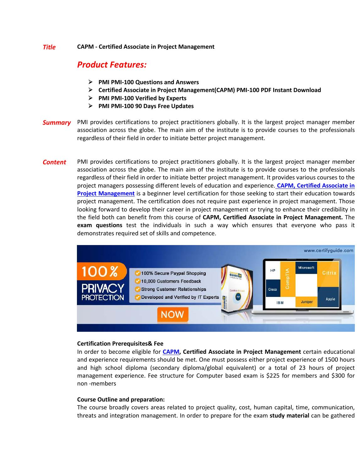 Capm exam questions pass in first attempt by directcertify issuu xflitez Images
