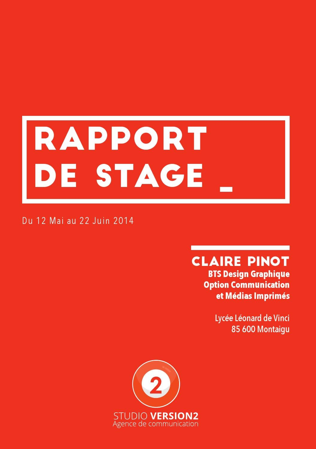 rapport de stage by claire pinot