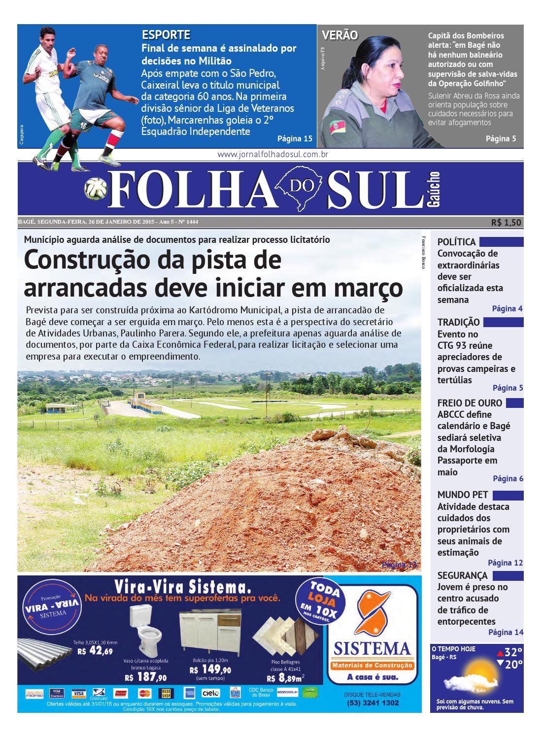 329f4dd4b86ae Folha do Sul Gaúcho Ed. 1444 (26 01 2015) by Folha do Sul Gaúcho - issuu