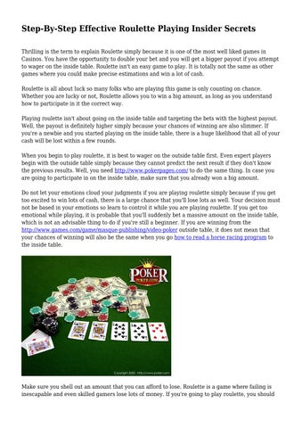 How to make money at roulette in the long term how to win 8 roulette in row