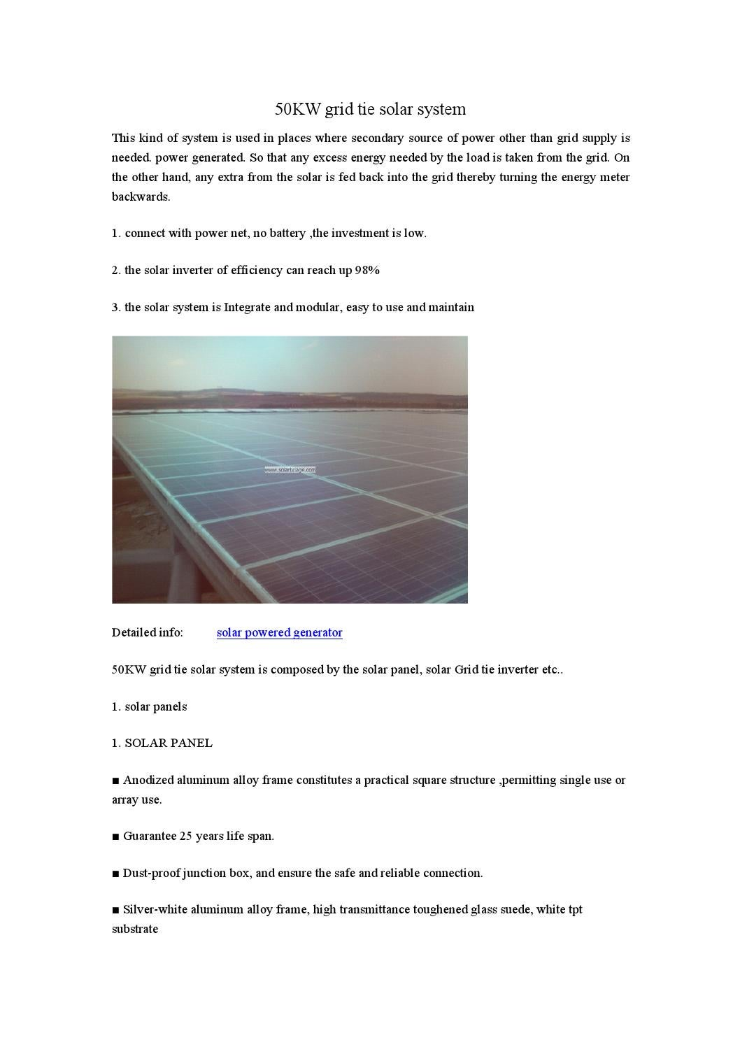 50kw Grid Tie Solar System By Wang Yongwen Issuu Wiring Panels To Inverter