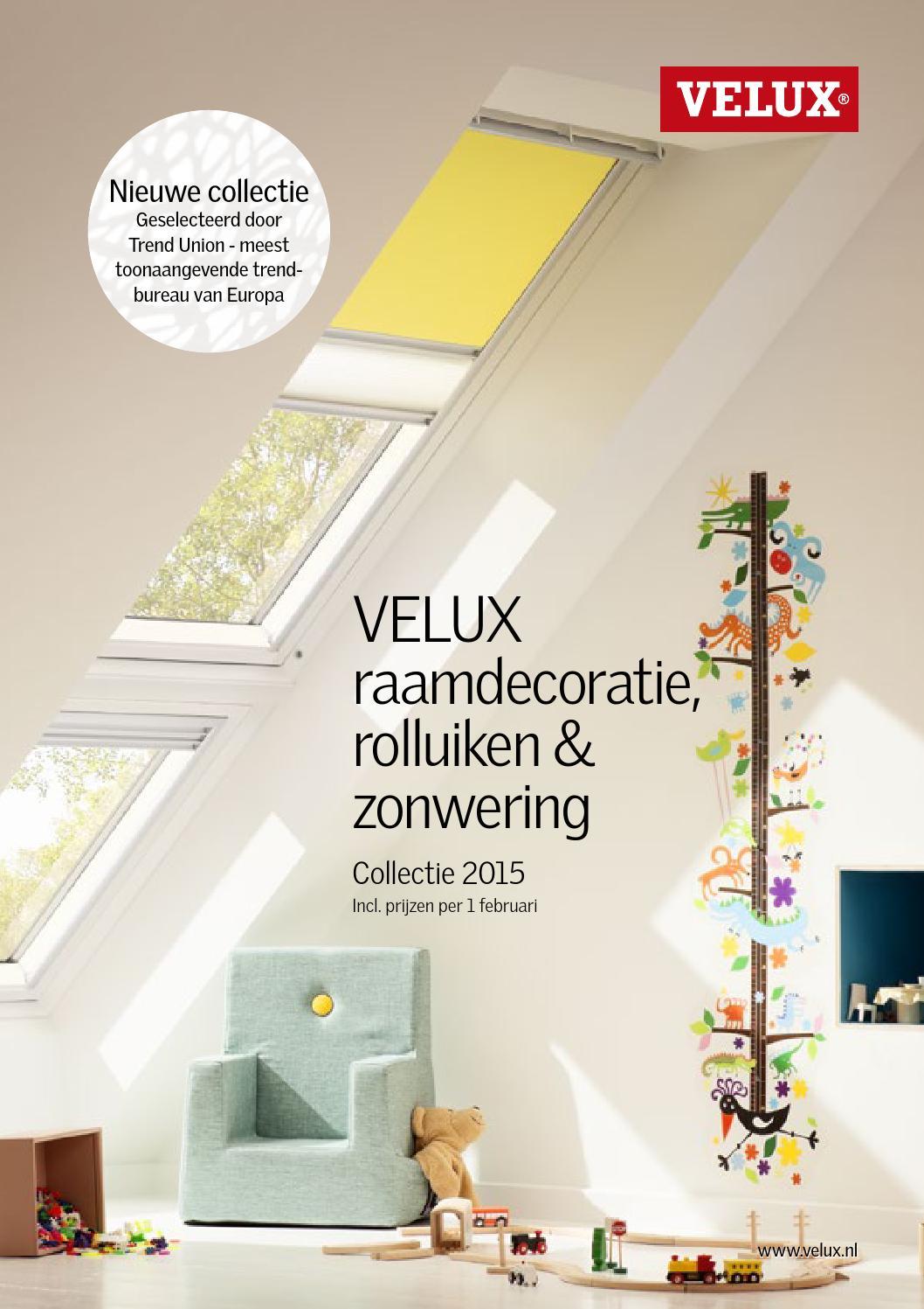 velux raamdecoratie brochure 2015 by velux nederland b v. Black Bedroom Furniture Sets. Home Design Ideas