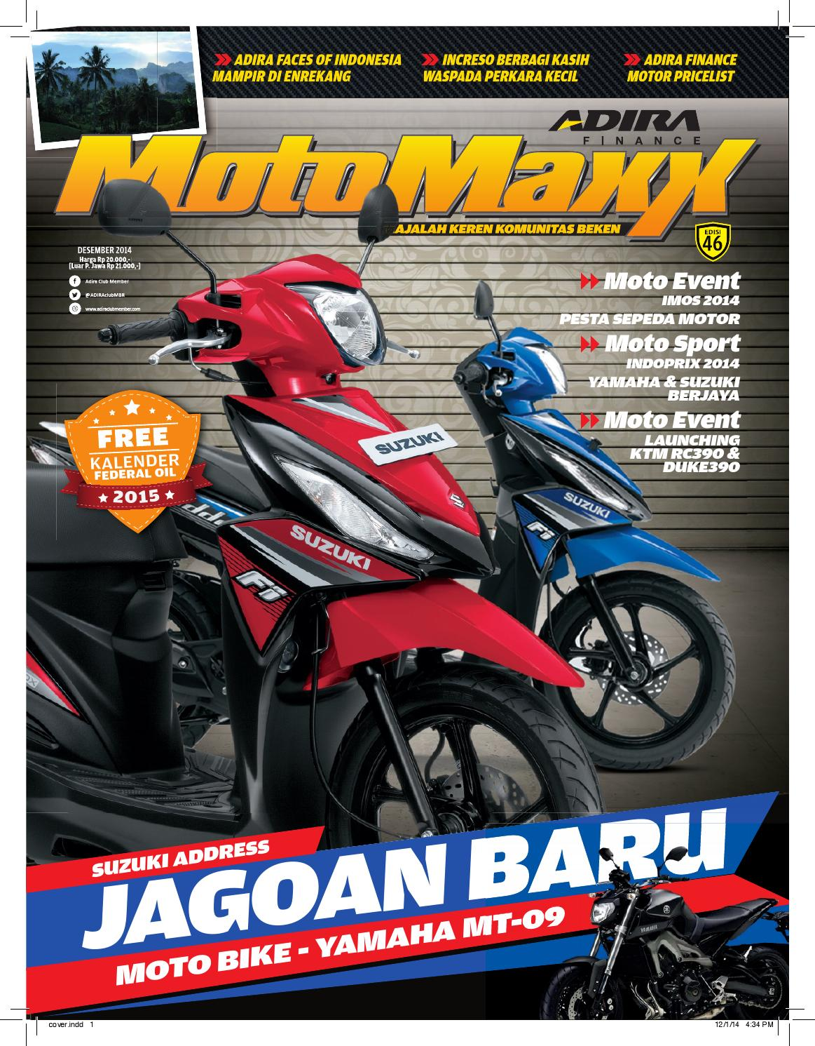 Motomaxx 12 2014 By Adira Member Issuu All New Beat Sporty Esp Cbs Iss Soul Red White Kota Semarang