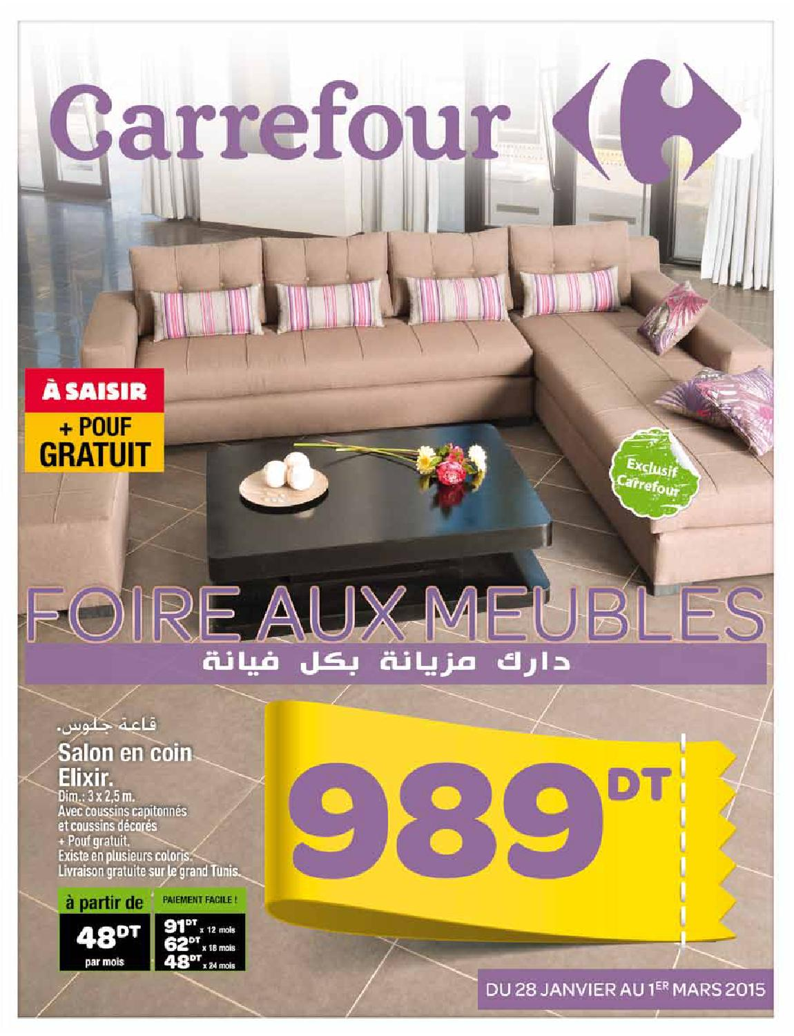 catalogue carrefour foire aux meubles by carrefour tunisie issuu. Black Bedroom Furniture Sets. Home Design Ideas