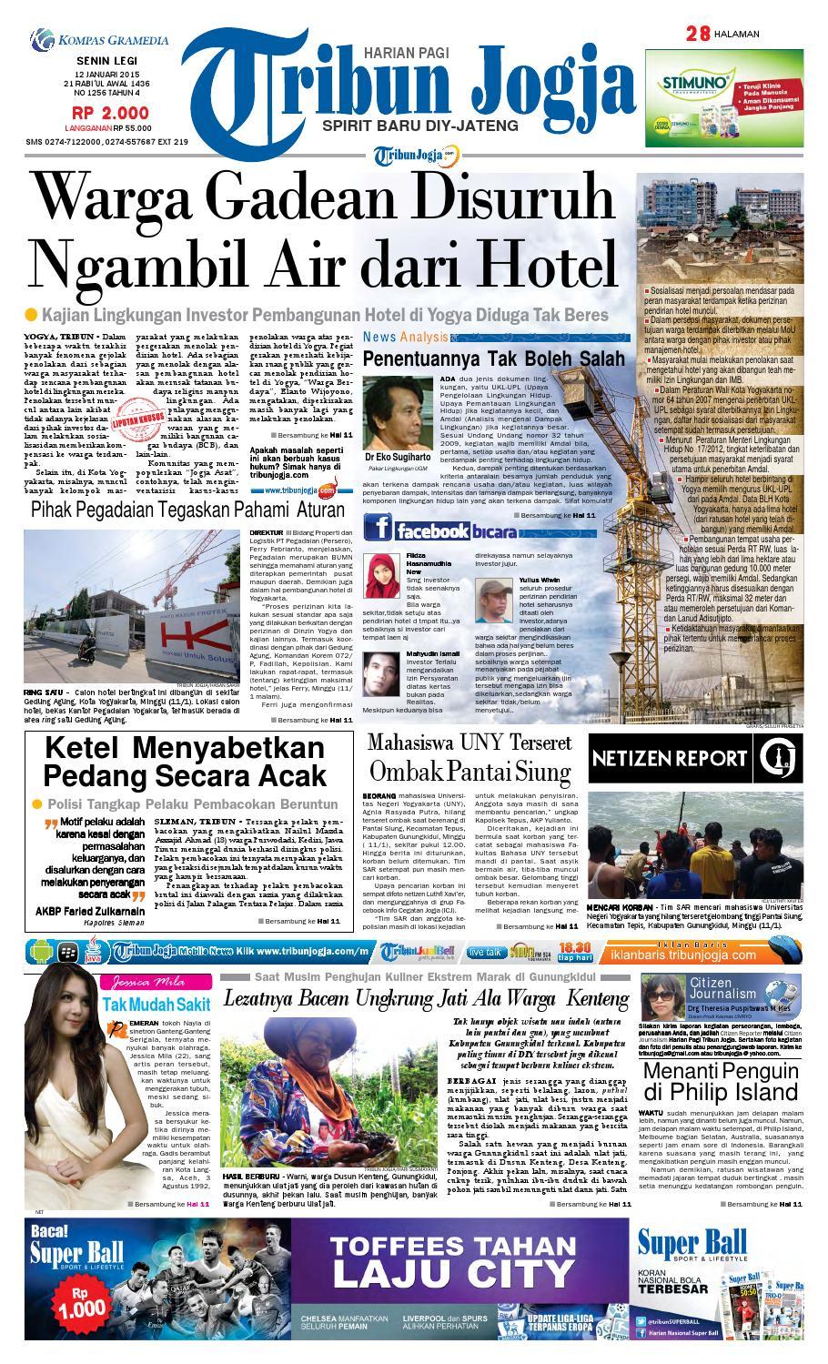 Tribunjogja 12 01 2015 By Tribun Jogja Issuu 95cm Nomor Tekstur Rumah Kantor Kamar Kost Hotel Kuningan No 1