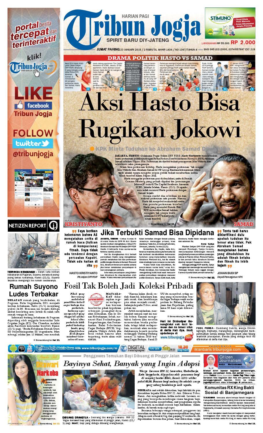 Tribunjogja 23 01 2015 By Tribun Jogja Issuu Produk Ukm Bumn Jus Durian Lite Kuning Omah Duren