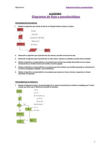 Ejercicios en pseudocodigo by franky acha issuu page 1 algoritmos diagramas de flujo y pseudocdigos ccuart Gallery