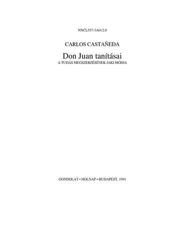 72ba42fda5 Carlos Castaneda - Don Juan tanításai by Apokrif evangéliumok ...