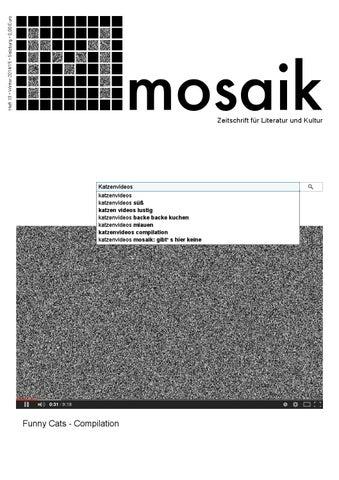 Mosaik13 Katzenvideos By Mosaik Zeitschrift Fur Literatur Und