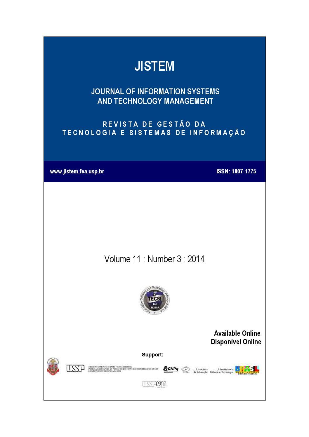 Volume XI - Numer III by Laboratório de Tecnologia e Sistemas de ...