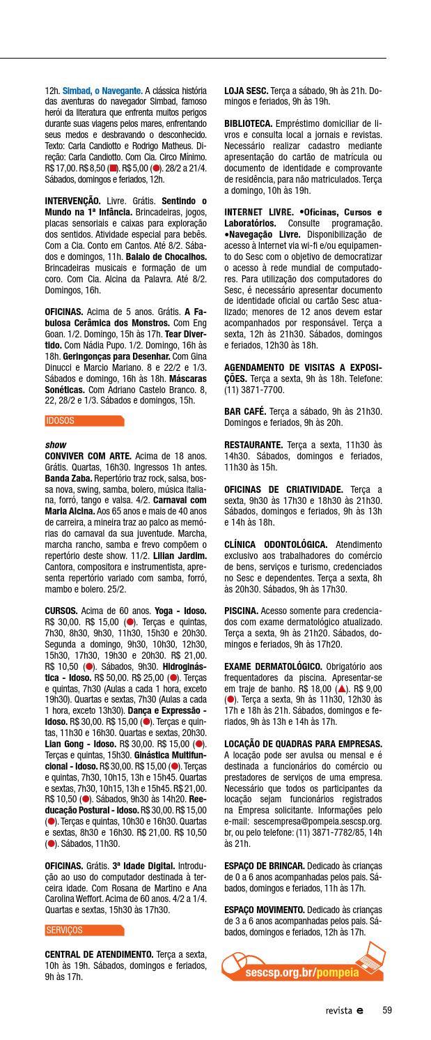 83069afcd Revista Em Cartaz Fevereiro 2015 by Sesc em São Paulo - issuu