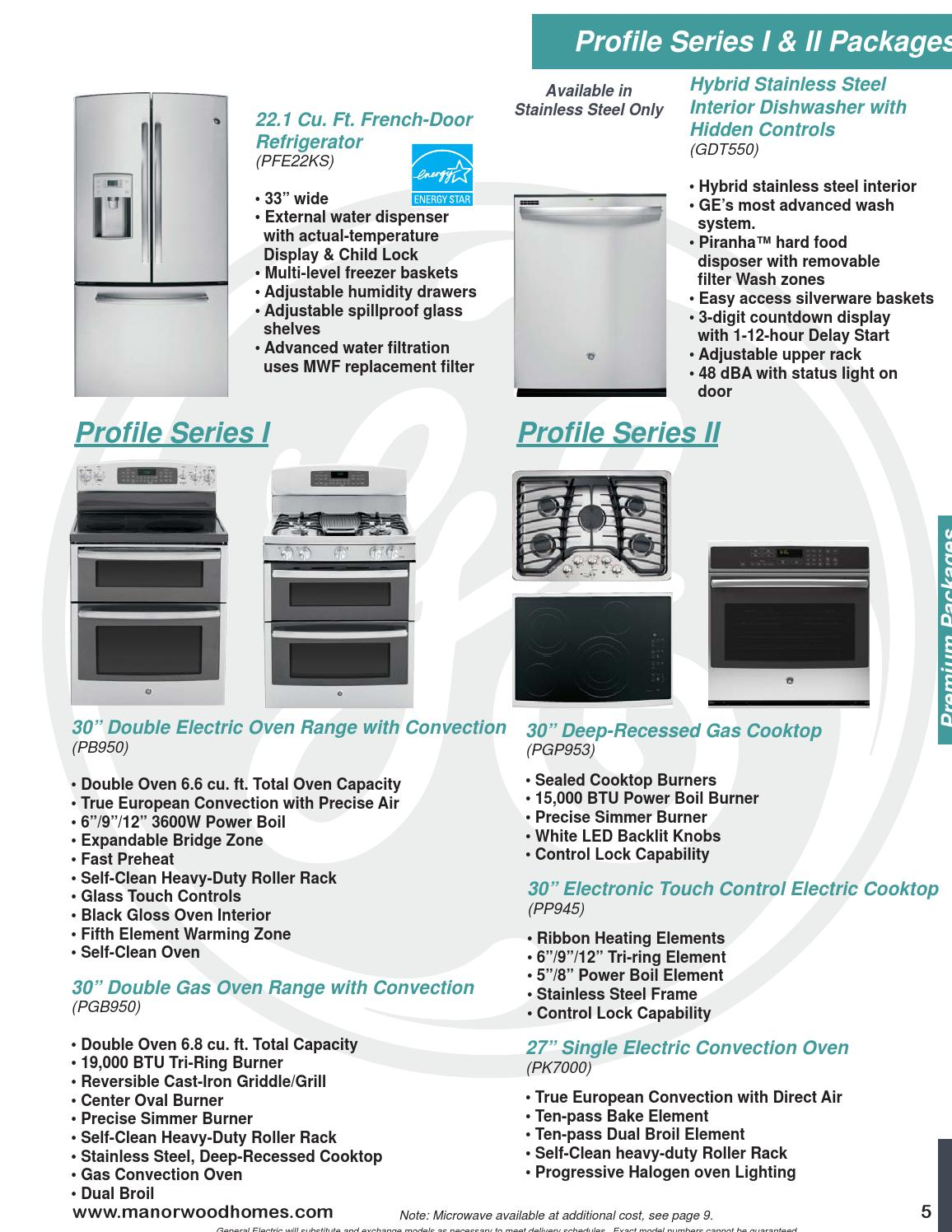 Manorwood Ge Appliance Selections 2015 By The Commodore