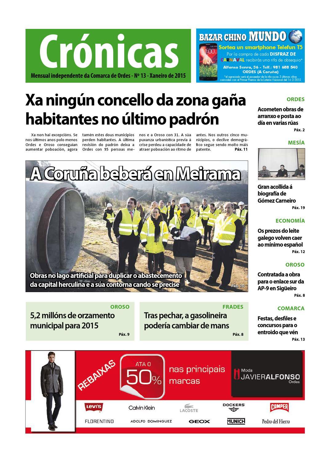 Cronicas Comarcadeordes N13 Xaneiro2015 By Cr Nicas Peri Dico  # Muebles Visantona