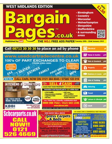 ff5947df554b7 Bargain Pages West Midlands 20th Jan 2015 by Loot - issuu