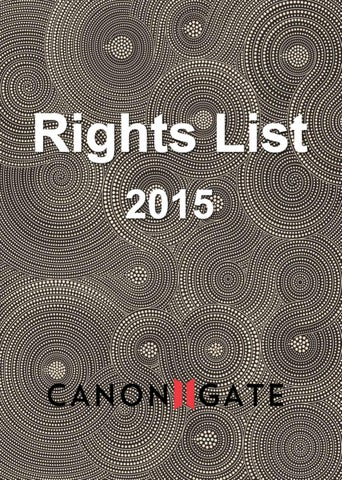 Rights List 2015 By Canongate Issuu