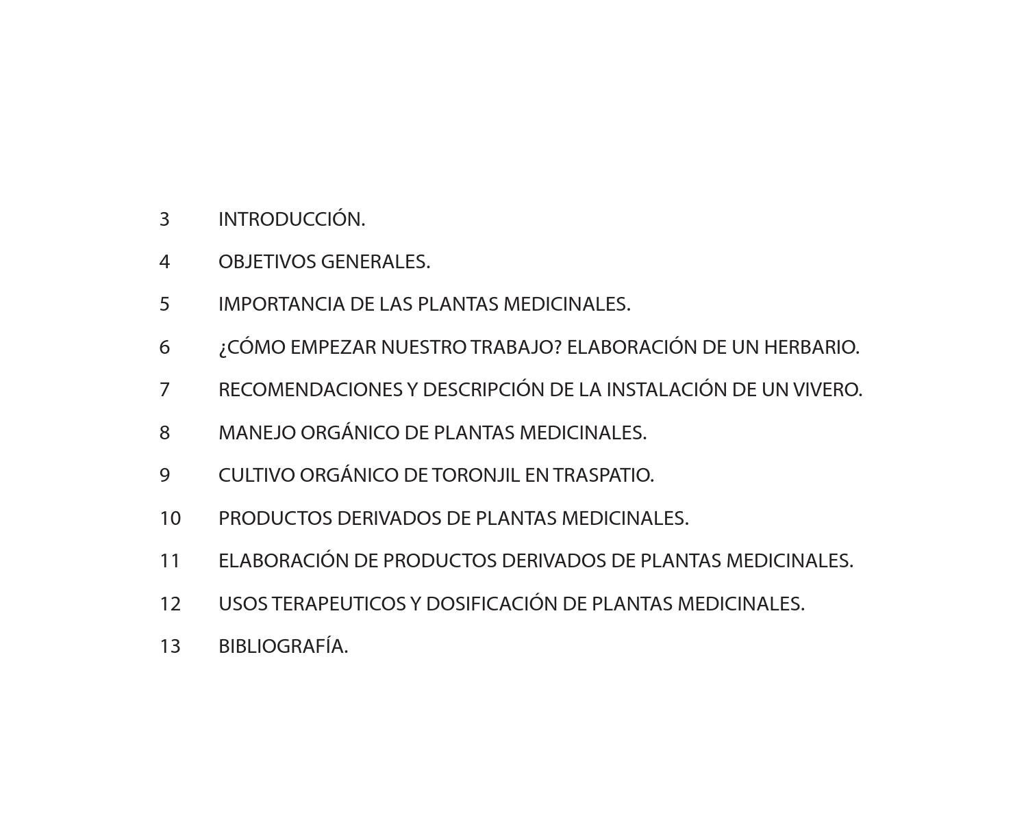 Manual para el manejo sustentable de plantas medicinales for Vivero organico