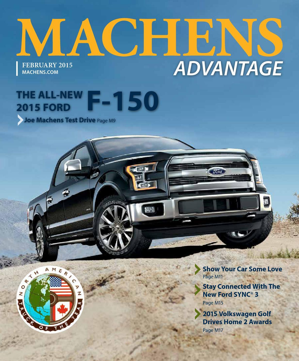 February 2015 Machens Advantage By Joe Machens Dealerships