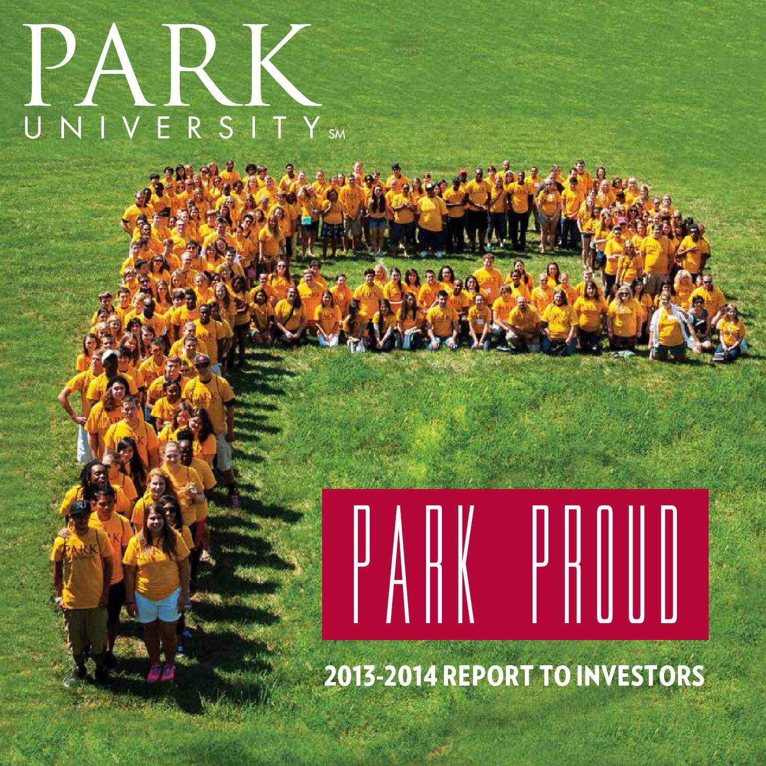 Report To Investors, 2013-2014 By Park University