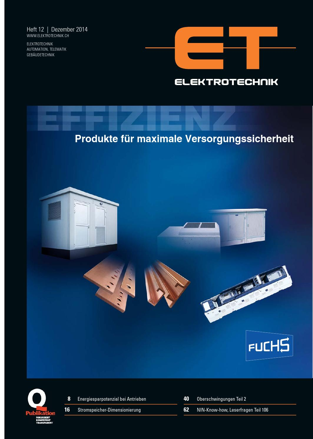 Elektrotechnik 12/2014 by AZ Fachverlage AG - issuu