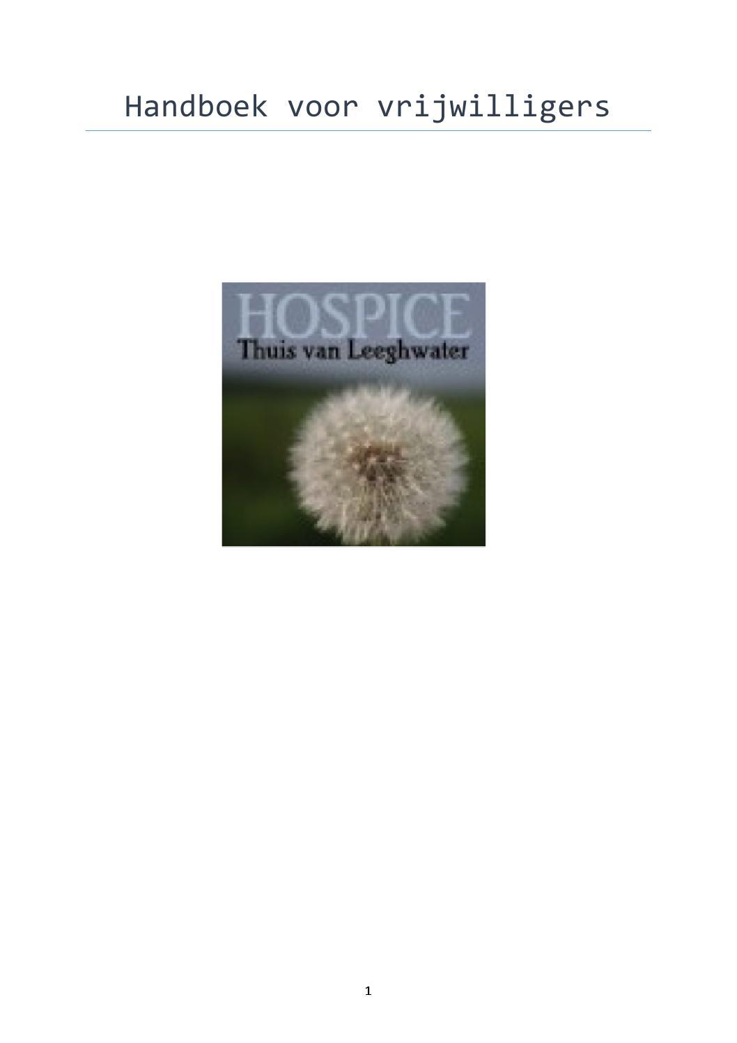 handboek voor vrijwilligers januari 2015 by hospice