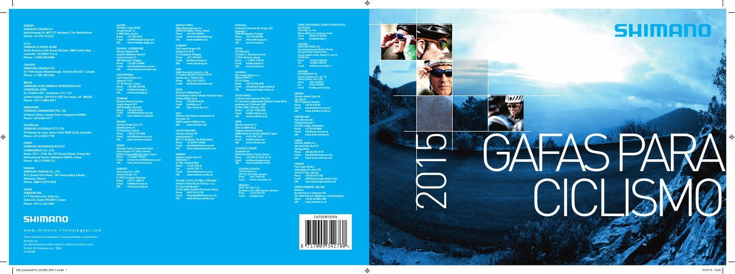 aed7264414 Catálogo gafas Shimano 2015 by Macario Llorente - issuu