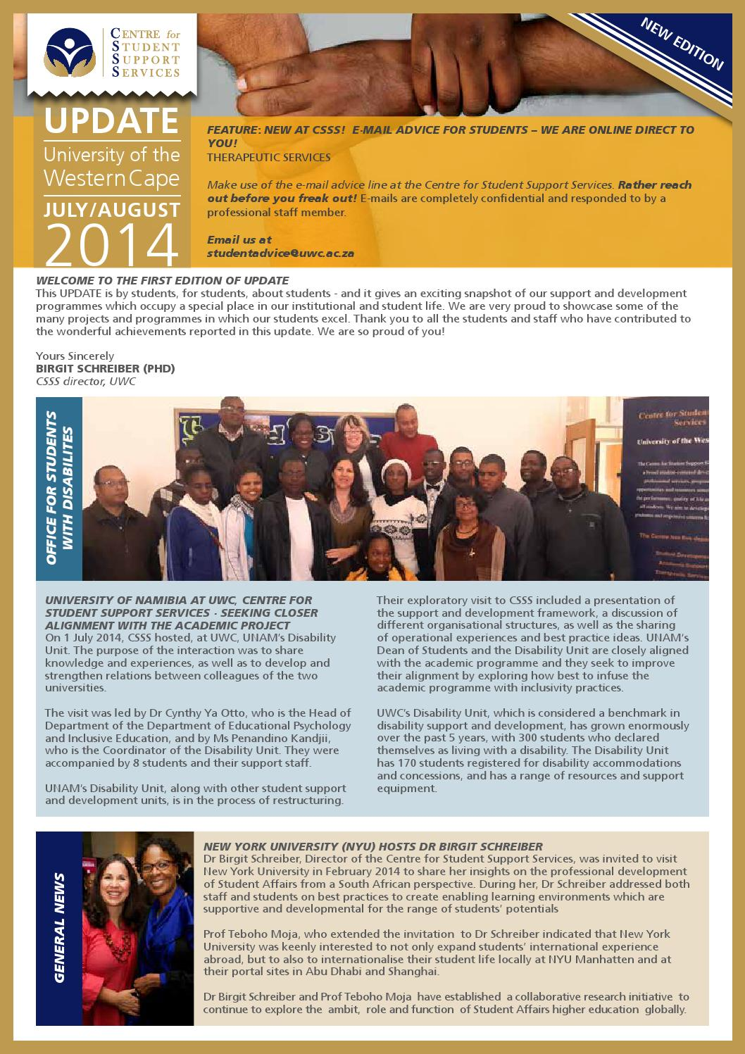 SA-GER CDR: News from the South African-German Centre of Development Research
