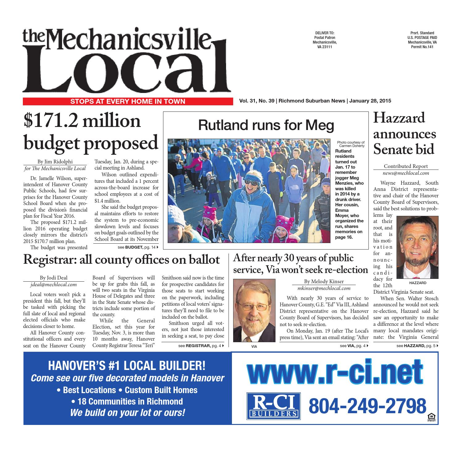 01 28 2015 by The Mechanicsville Local issuu