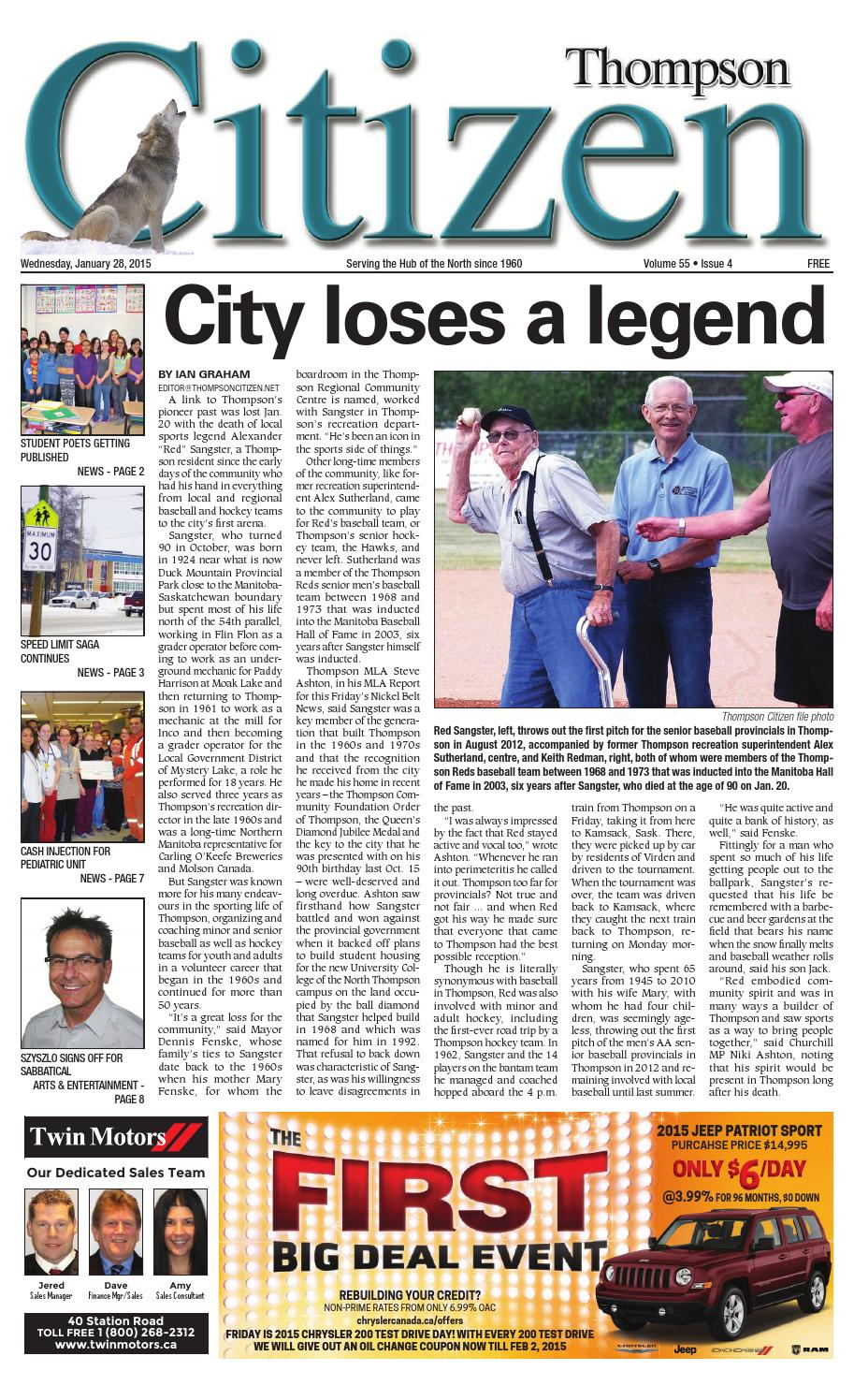 January 28 2015 by Thompson Citizen - issuu