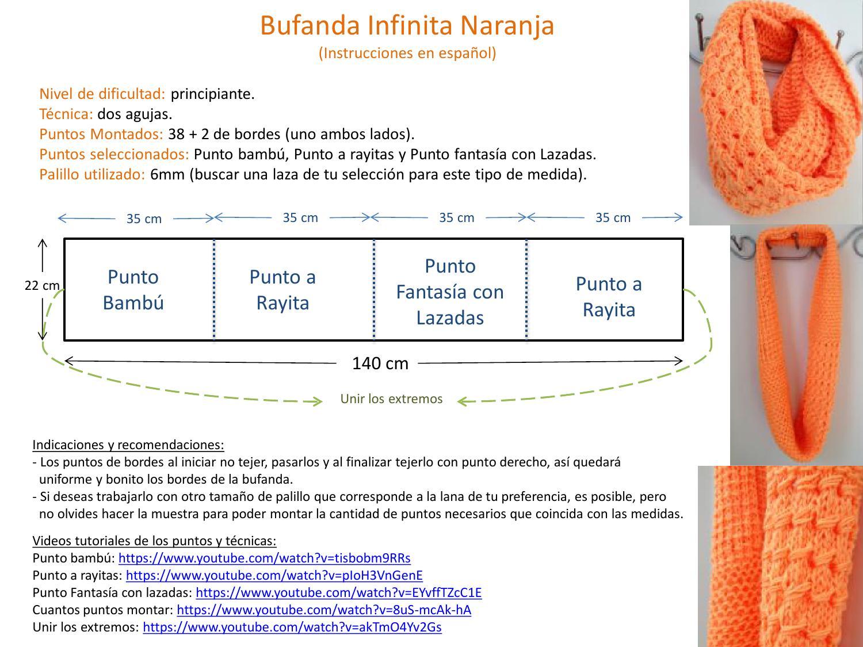 Atractivo Bufandas De Punto Patrón Bufanda Infinito Adorno - Coser ...