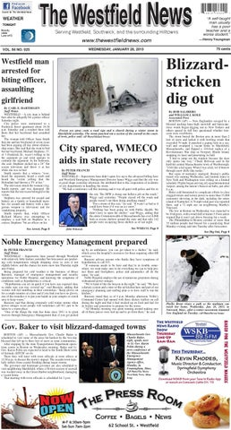 Wednesday January 28 2015 By The Westfield News