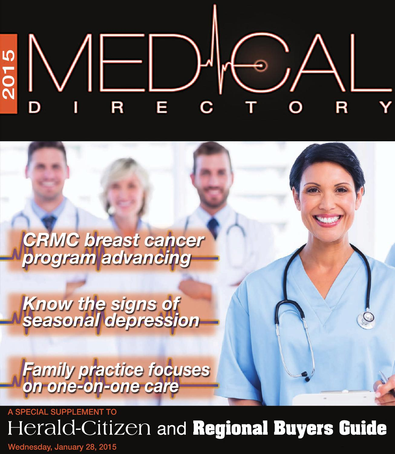 2015 01 28 Medical Directory Hc By Herald Citizen Issuu