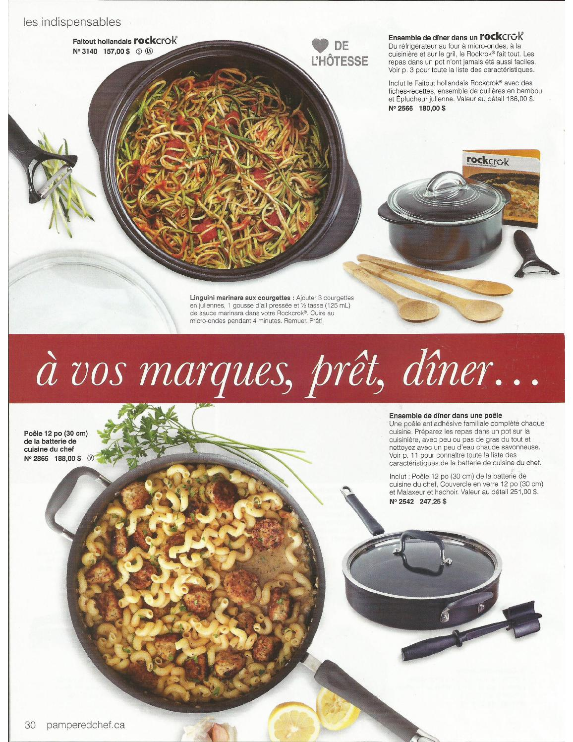 Catalogue The Pampered Chef En Francais Issuu Scribd Document