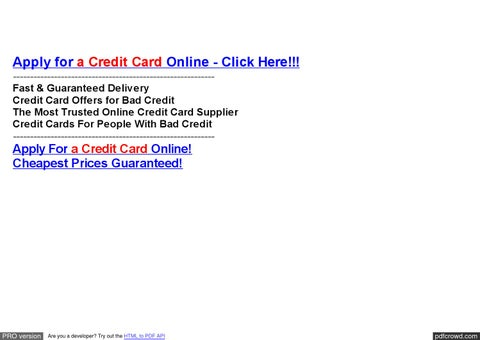 Credit Card Application Online Hsbc --- Bdo Credit Card