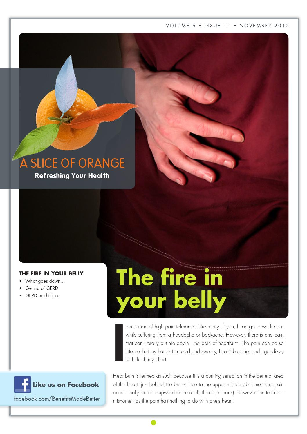 Stomach: A Slice of Orange - November 2012 - The fire in
