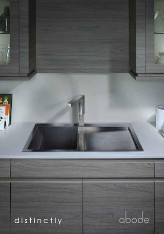 u201c good kitchen sink  u0026 tap design is not just about utility problem solving  it is about creating beautiful and practical objects that can perform in the     abode kitchen sink brochure by abode   issuu  rh   issuu com