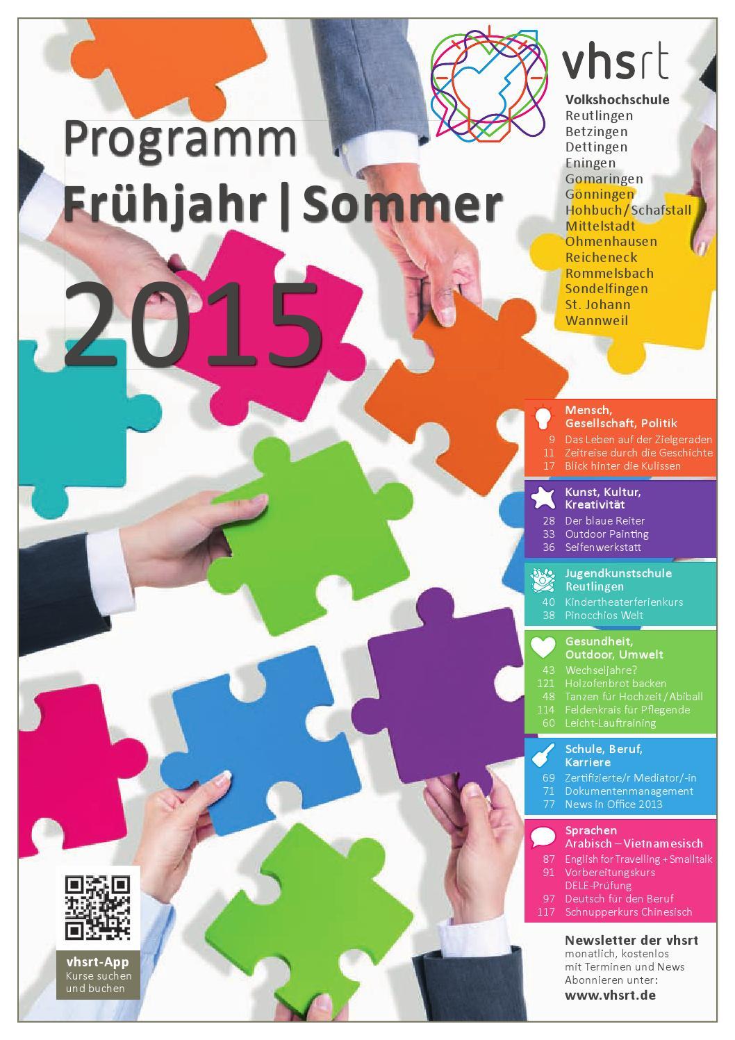 Programm Frühjahr/Sommer 2015 by Volkshochschule Reutlingen - issuu