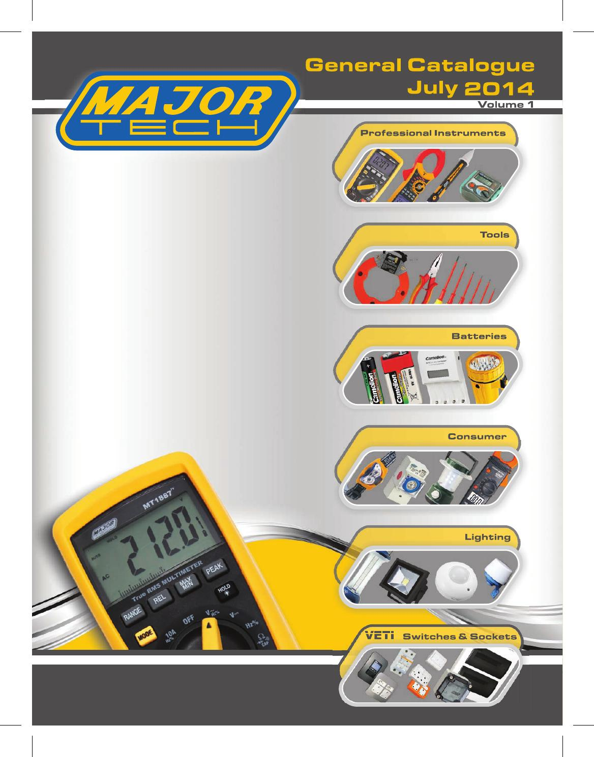 Majortech Veti Product Catalogue 2014 By Alf Allingham Issuu Double Poles 2p Elcb Earth Leakage Circuit Breaker Diy Electricals