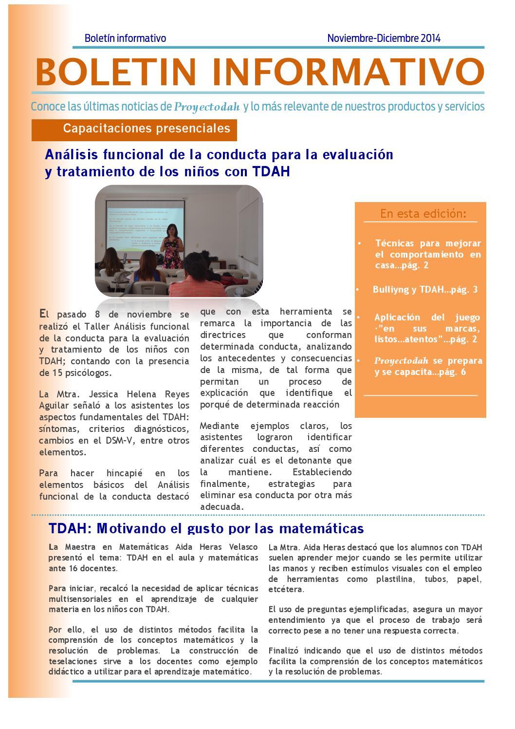 bolet u00edn informativo noviembre diciembre 2014 by