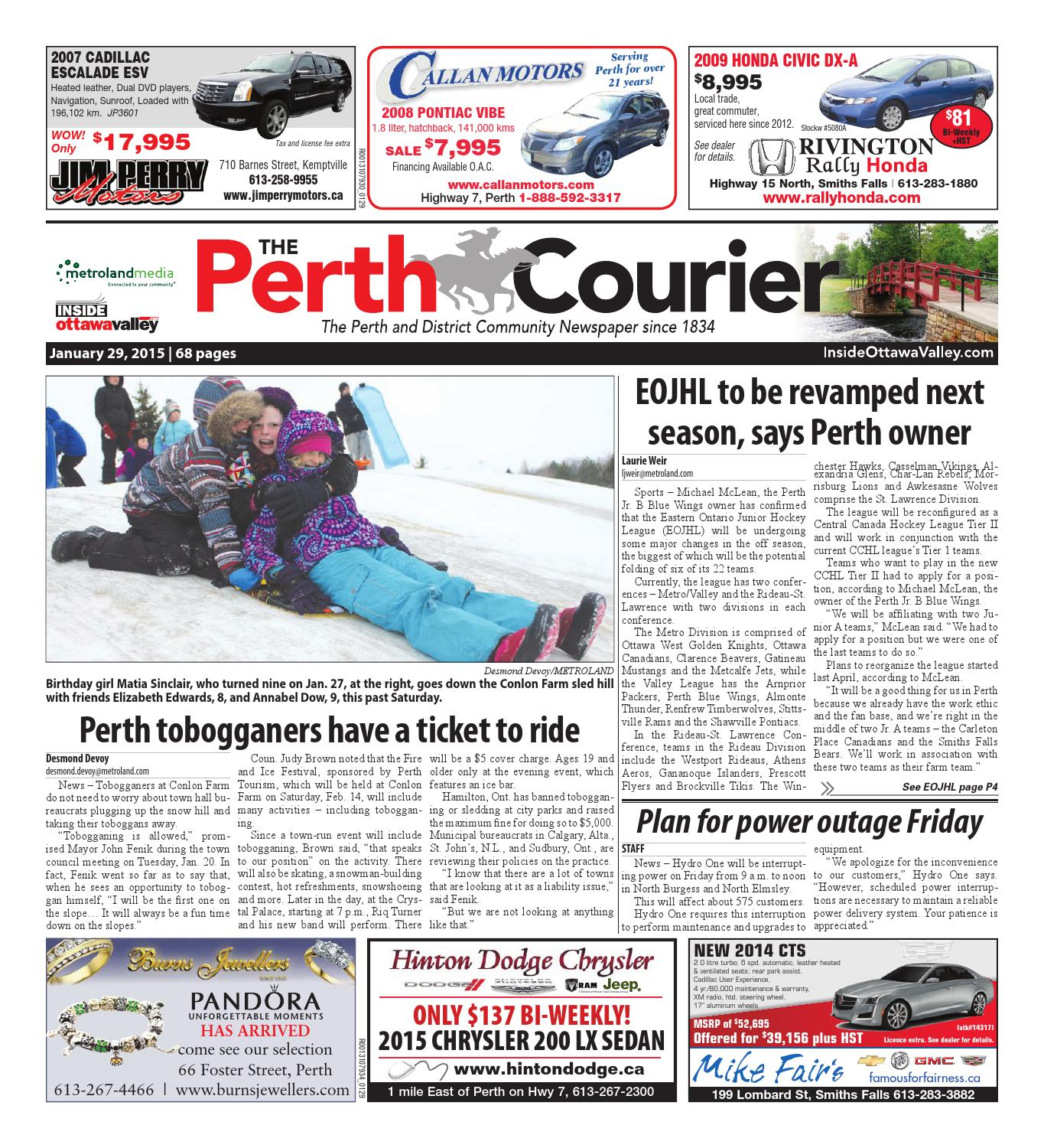 1fe38ee87be Perth012915 by Metroland East - The Perth Courier - issuu