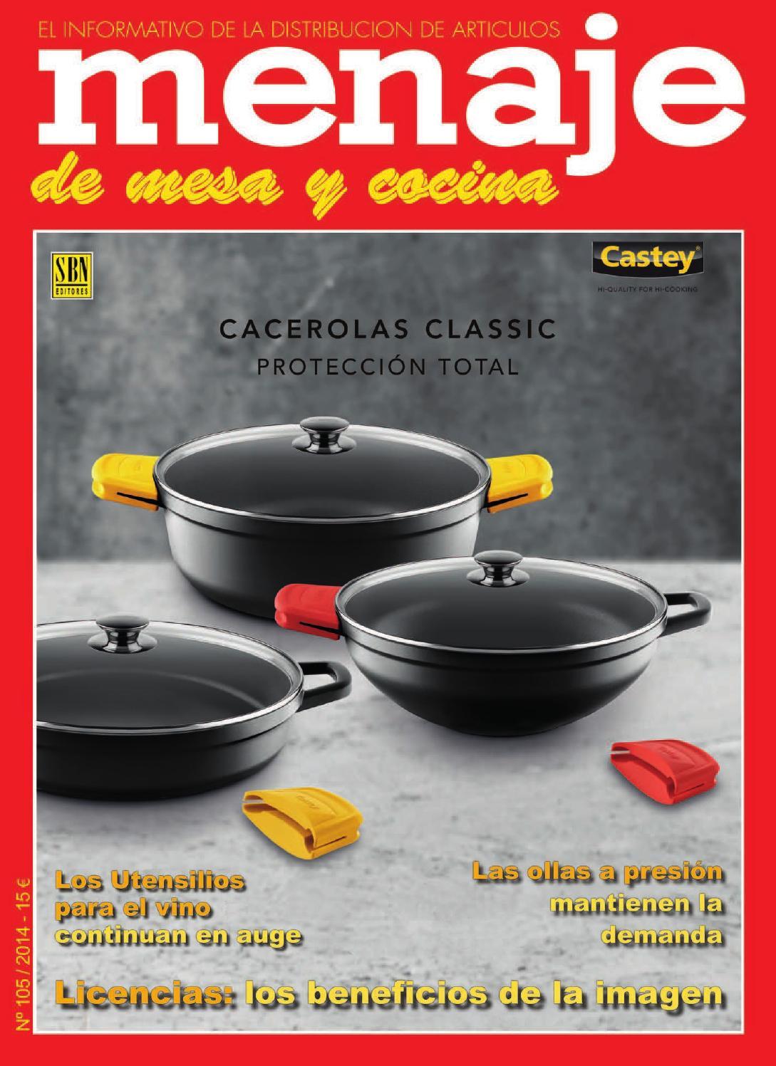 Menaje 105 by revista menaje issuu for Menaje profesional