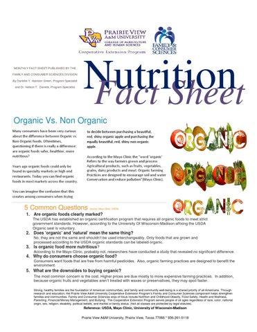 organic beans vs non organic
