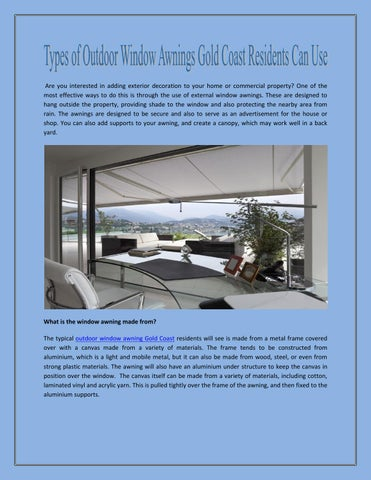 Window Awnings Gold Coast By Blindshutter Issuu