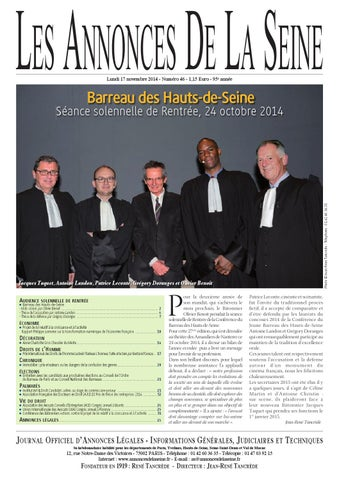 Edition du Lundi 17 Novembre 2014 by Annonces de la Seine - issuu 994b288d0cb4