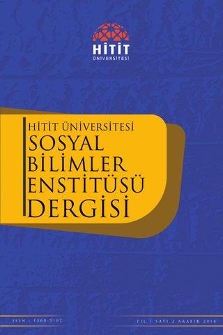 Sosyal Bilimler Enstitüsü Dergi By Ihsan şahin Issuu