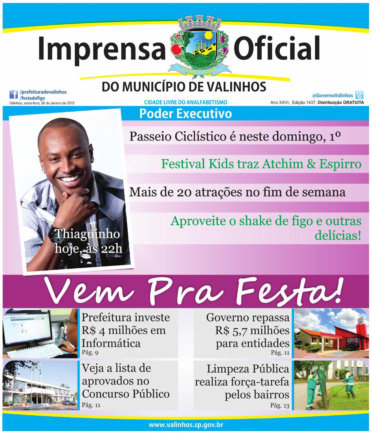 Imprensa Oficial do município de Valinhos - Edição 1437 by Prefeitura de  Valinhos - issuu cefe300608