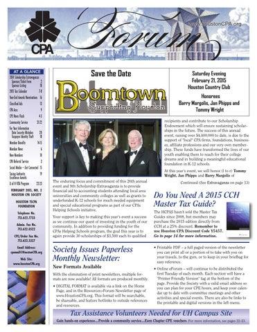 February 2015 Cpa Forum By Houston Cpa Forum Issuu