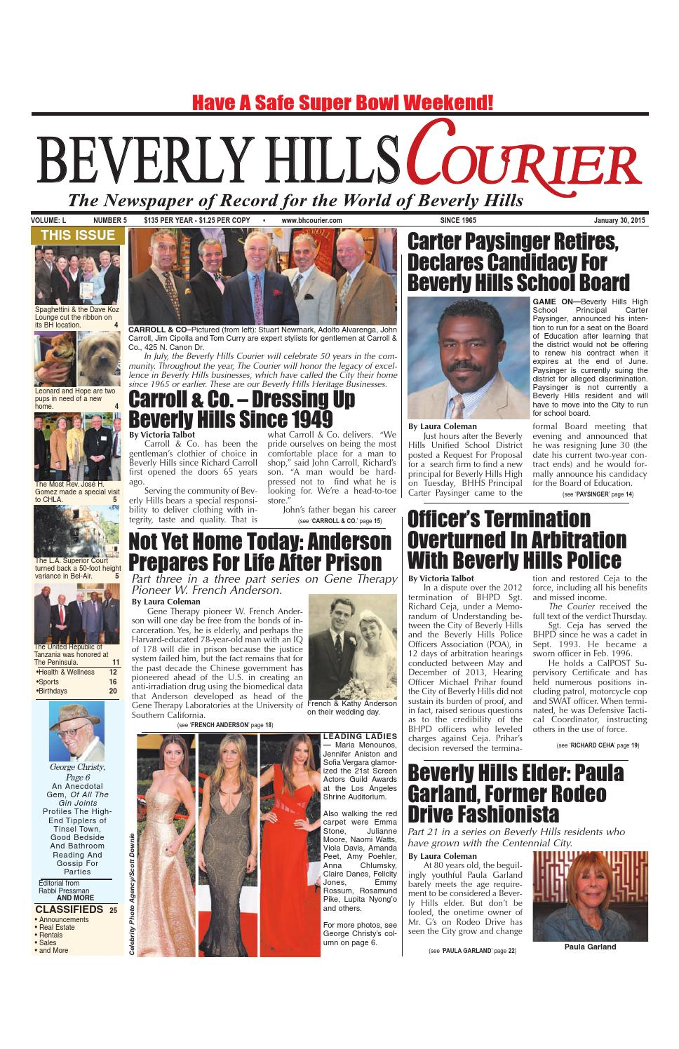 3d28cd5da214 BHCourier 01-30-2015 E-edition by The Beverly Hills Courier - issuu
