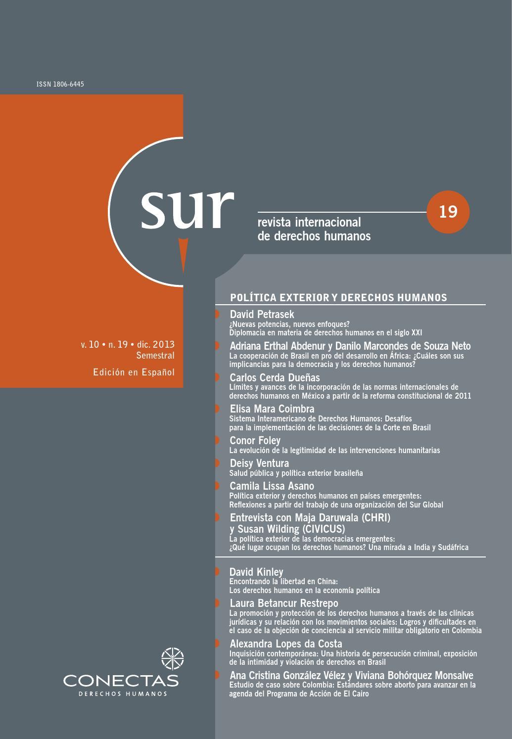 SUR 19 Español by Conectas Direitos Humanos - issuu
