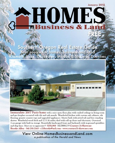 Homes Business And Land January 2015 By Herald And News