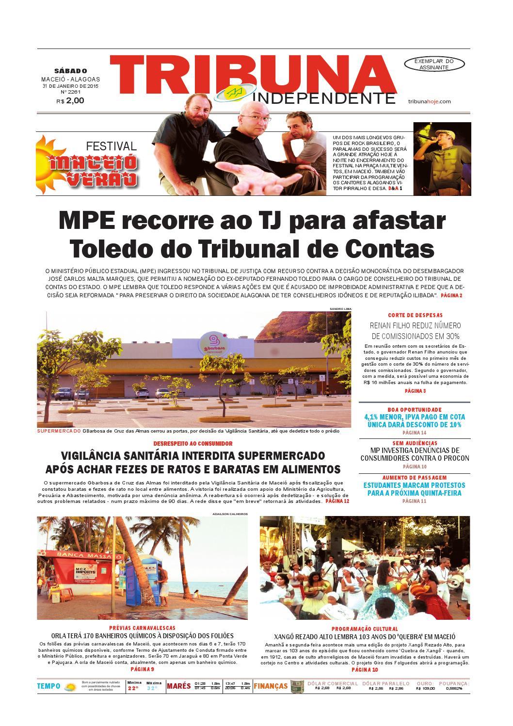 b749400680f Edição número 2261 - 31 de janeiro de 2015 by Tribuna Hoje - issuu